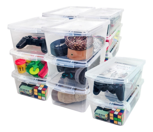10 Cajas Organizador Multiuso Zapatos Caja Con Tapa Cajoner