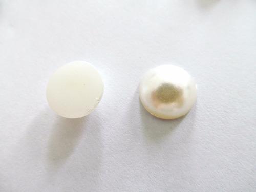 100 Medias Perlas Natural 12mm Candybar Para Pegar