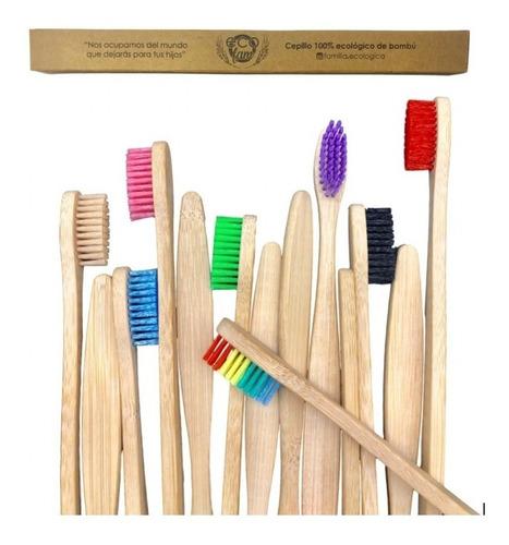 Cepillo De Dientes Bambu Biodegradable Ecologico Adulto