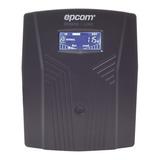 Ups Regulador De Voltaje Epcom Epu1500lcd 1500va Entrada Y Salida De 100v/110v/120v Ca Negro