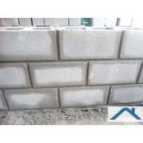 Construcción Pared Con Ladrillos Bloque De Hormigón Albañil