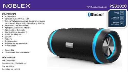 Parlante Noblex Portatil Bluetooth 45w Psb1000