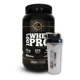 Proteina + Vaso - 100% Whey Pro 2 Lb + Shaker Gold Nutrition