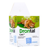 Drontal Cats 2 Comp. Gatos Antiparasitario Interno Bayer Tps