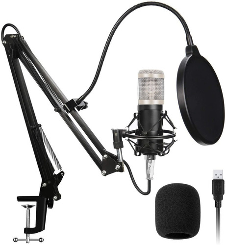 Microfono Set Professional Condenser Radio Gamer Streaming