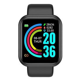 Smartwatch Smart Bracelet D20 D20 D20 1 1.3  Caixa De  Plástico  Preta Pulseira  Preta De  Silicone D20