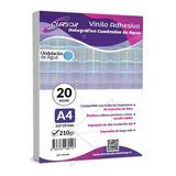 Vinilo Adhesivo Tornasol Cuadrados Agua Imprimible A4 20hjs