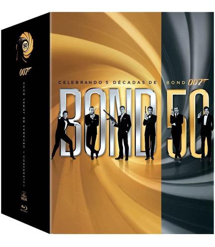 007 Celebrando 5 Decadas De Bond 007, 23 Películas Blu Ray