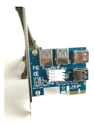 1 To 4 Pci Express 1x Slots Riser Card Expansion  - Splitter