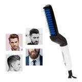 Plancha Para Barba Y Cabello Peine Cepillo Alasiador Hombre
