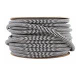 Cable Textil Zig-zag Blanco Y Negro X 5 Mts