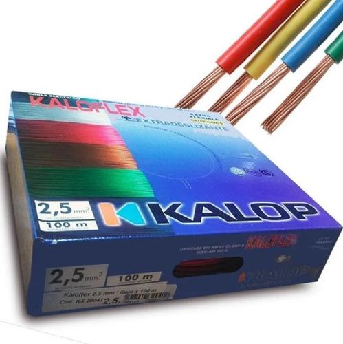 Cable Unipolar Kalop Normalizado 2.5mm C5 X 2 Rollos Colores