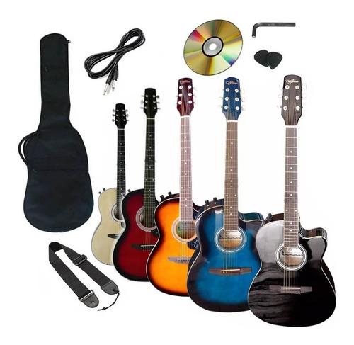 Guitarra Electroacústica Importada Mástil Delgado
