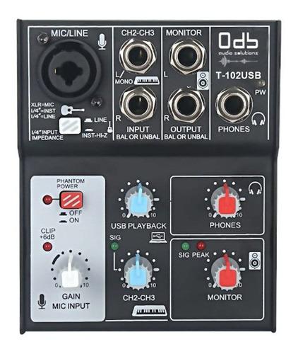 Interfaz Audio Usb. 0db Track 102usb Mixer-entrega Inmediata