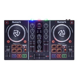 Controlador Dj Numark Party Mix Negro De 2 Canales