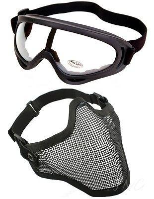 Protección Acero Mascarilla Con X400 Claro Lente Gafas Airso