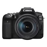 Canon Eos Kit 90d + Lente 18-135mm Is Usm Dslr Color  Negro