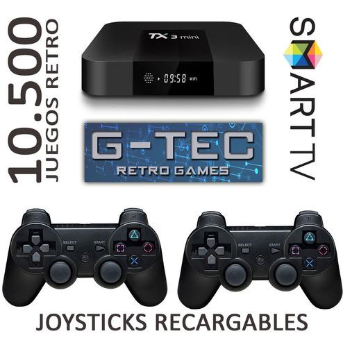 Consola Retro G-tec 10.000 Juegos 30 Emul Y Joy Inalambricos