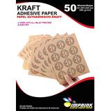 Papel Adhesivo Kraft Imprimible A3/200g/50 Hojas Imprink