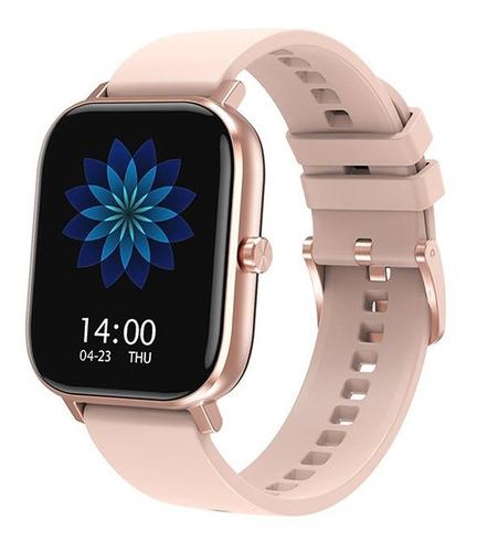 Reloj Inteligente Smartwatch Gold Rose Para Mujer Bluetooth