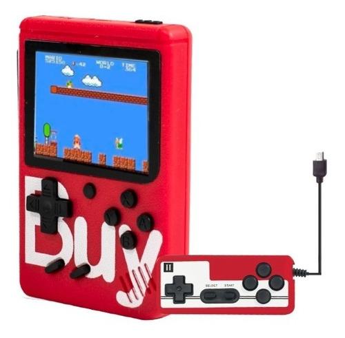 Mini Consola De Videojuegos Recargable C/400 Juegos+1 Mandos