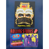 Calcomanías Recital Michael Jackson Y Rolling Stones