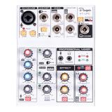 Consola Mixer + Interfaz Usb Parquer Kt-upc 3 Canales