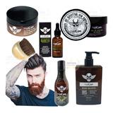 Kit Barbería Aceite Bálsamo Shampoo Gel Cepillo Loción