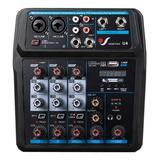 Consola Venetian U4 Mixer 4 Streaming Con Interface Usb Pc