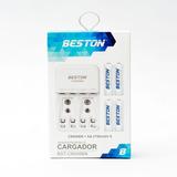 Baterias Beston 3000 Mah Aa Recargable X 4 Pack + Cargador