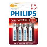 Pila Aa Philips Alcalina Blister Por 4 Unidades