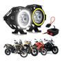 Farol De Milha Led Moto P Suzuki Kawasaki Bmw Harley U40 Original