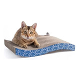 Rascador Gatos Cartón Corrugado + Sobre Catnip Hierba Gatera