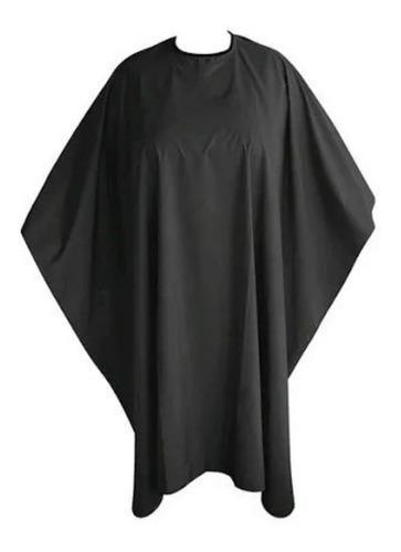 Capa Negra Para Tintura Peluquería Barbería