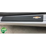Cubre Zocalos Negros P/ Chevrolet S10 Accesorio E.gratis