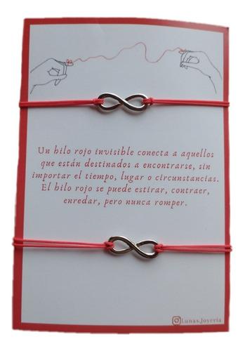 Pulseras Del Hilo Rojo Infinito  Para Parejas, Novios