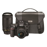 Nikon D7500 Dual Zoom Lens Kit Dslr Color Negro
