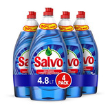 Lavatrastes Salvo Power Clean Líquido En Botella 4.8l Pack X4