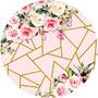 Painel Redondo Sublimado Flores 3d Em Tecido - 1,5x1,5m Original