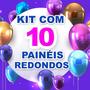 Kit 10 Painéis Redondos Sublimado 3d À Escolher 1,5 Diâmetro Original