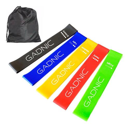 Kit De 5 Bandas Elasticas Isometricas Pro Gadnic Fitness