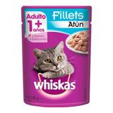 Alimento Whiskas 1+ Para Gato Adulto Sabor Atum Ao Molho Em Sachê De 85g