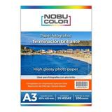 Papel Foto Glossy Brillante Nobucolor A3 200 Gr. 20 Hojas