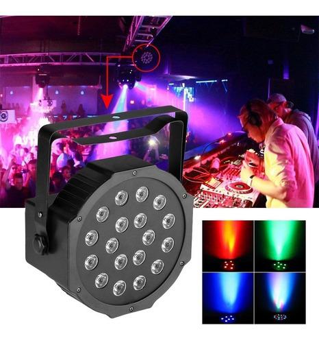 Luz Led Audio Rítmica Multicolor Fiestas Discotecas  Rf 432
