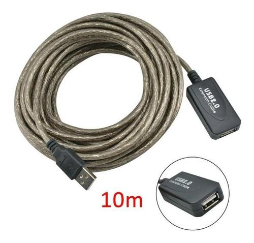 Cable Extension Usb Activo 10m Metros Blindado Recubierto