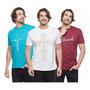 Kit 3 Camiseta Camisa Fé Gratidão Jesus Evangélica Original