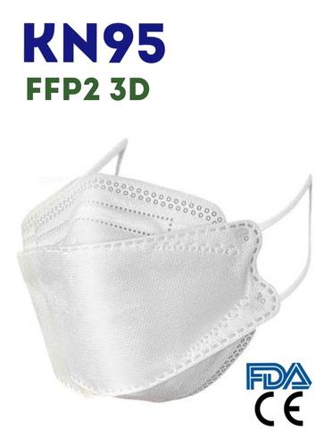 Mascarilla Kn95 Ffp2 3d Fish Nano Original Individual