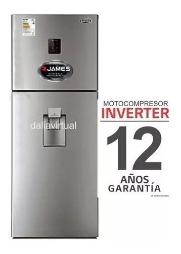 Heladera James Inverter J501 Inox. Dispensador Gtía. 12 Años