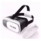 Kit Óculos Vr 2.0 Realidade Virtual Bluetooth + Controle