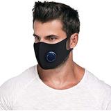 Tapaboca Barbijo Máscara Lavable Reutilizable Válvula Hombre